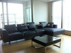 Max2917 - Black Leather L-Shape Sofa