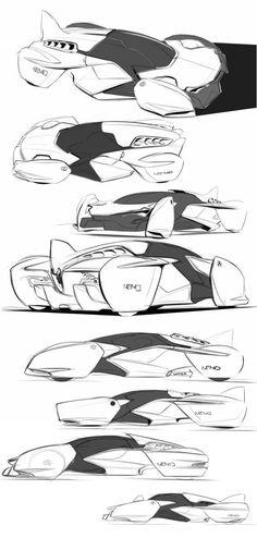 Crisp car sketches