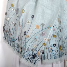 """Large and long scarf Sophie Digard """"poppy"""""""