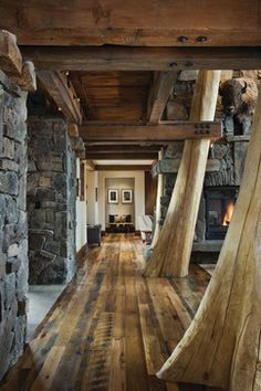 Staircases In Log Cabins Design Ideas, Pictures, Remodel, and Decor - page 15