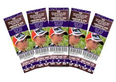 Sports party ticket invites