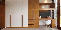 Joinery_One Wybelenna by Shaun Lockyer Architects Wardrobe Door Designs, Wardrobe Design Bedroom, Wardrobe Doors, Sliding Wardrobe, Interior Architecture, Interior Design, House Names, Study Nook, Home Organisation