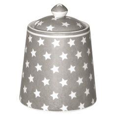 GreenGate Stoneware Sugar Pot Star Warm Grey H 10 cm   NEW! GreenGate Autumn/Winter 2014   Originated-Shop