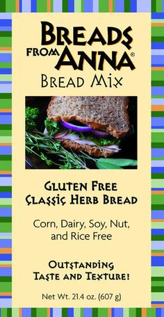 Classic Herb Bread Mix - Gluten, Corn, Dairy, Soy, Nut (including peanuts), Rice and GMO Free.  Hearty, just one word to describe this seasoned-rich bread. Your taste buds will dance for the abundance of herbs; thyme, sage, parsley (to name a few) found in this bread. #glutenfree