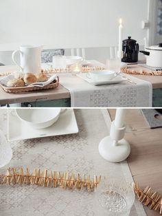 Iittala Nappula white candleholder, Ultima Thule glasses. Image & styled by mysecondhandlife.indiedays.com/