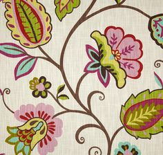 Pink Floral Curtains Girl's Drapery Panels by asmushomeinteriors