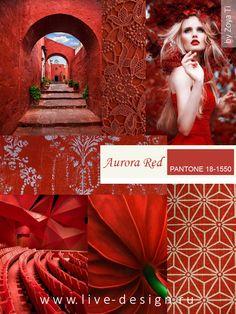 Модный цвет Pantone сезона осень-зима 2016 Aurora Red/ Красная Аврора