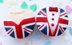 Royal Wedding bride and groom cupcakes