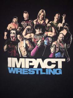 Impact Wrestling Graphic T-Shirt Hulk Hogan, Sting Macho Man Angle Small Vintage #Gildan #GraphicTee