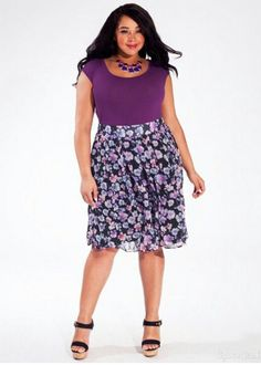 Lovely floral skirt.   Plus Size Style Watch
