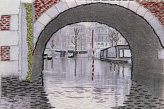 The Netherlands. Beautifully stitched postcards by the talented Airedale Branch of the Embroiderers' Guild.  http://www.embroiderersguild.com