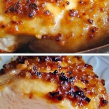 4 boneless skinless chicken breasts  4 garlic cloves, minced  4 tablespoons brown sugar