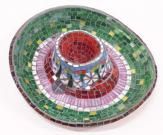 Mosaic serving dish by piecebypieceorg on Etsy, $160.00
