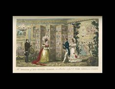 The Duchess of Do-Good's Screen. Pierce Egan, Pierce Egan's Finish to the Adventures of Tom, Jerry, and Logic, in Their Pursuits through Line in and out of London. (London: George Virtue, 1830), 102.