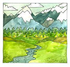 Mountains. $7.00, via Etsy.