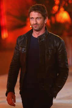Oh hi there, Gerard Butler in a leather jacket.