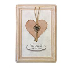 """Grant your loved one a romantic gesture. Bestow upon them the """"key to your heart"""". Romantic, personalized gift for him or her. #Heart #FirstAnniversary by Dafna Yarom http://ygil76.wix.com/paper-drawings"""