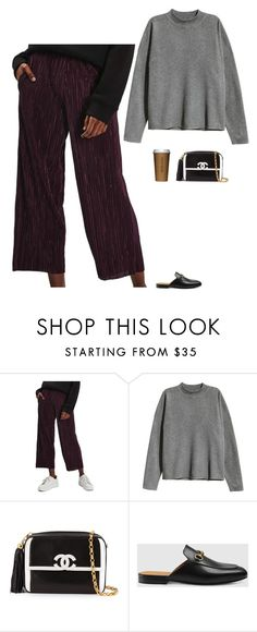"""Untitled #2032"" by tayloremily218 on Polyvore featuring Topshop, H&M, Chanel and Gucci"