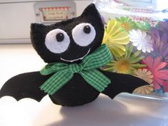 Batty. Cute! #sewing #felt #bat #cute #halloween