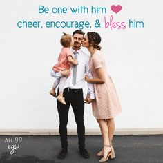 God's Purpose for the Husband and Wife—God made from the man a woman, to be a companion and helpmeet for him, to be one with him, to cheer, encourage, and bless him, he in his turn to be her strong helper. Fulfill God's purpose ❤️ —the husband to obtain the pure affections of a woman's heart, the wife to soften and improve her husband's character and give it completeness—AH 99.1 #egw #beone #theadventisthome #pureaffectionofherheart  #blesshim❤️ #encouragehim  #cheerhim #herstronghelper…