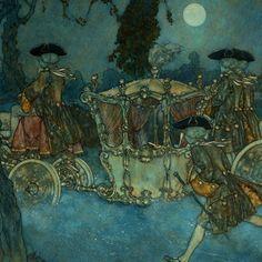 Illustration by Edmund Dulac. Edmund Dulac, Fairytale Fantasies, Fairytale Art, Warwick Goble, Cat Hug, Classic Fairy Tales, Art Deco Illustration, Arthur Rackham, Pre Raphaelite