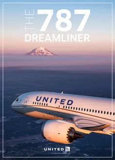Vintage Aircrafts The Boeing 787 Dreamliner Airplane Fighter, Airplane Art, Boeing Aircraft, Boeing 777, International Civil Aviation Organization, Boeing 787 Dreamliner, Commercial Aircraft, United Airlines, Vacation Trips