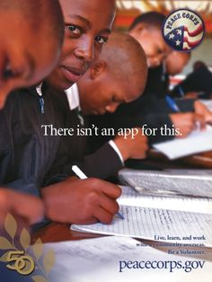 Peace Corps - there isn't an app for this