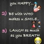 Rules to be happy