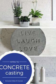 Learn concrete casting thru 3 fun and simple DIY projects. Exclusive step-by-step instructions at Bob Vila Academy.