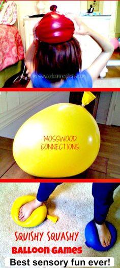 Squishy Squashy Sensory Balloon Games and Activities