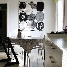 Mustavalkoista ja graafisia kuvioita