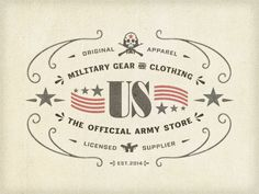 Army Store Label ... by Arno Kathollnig