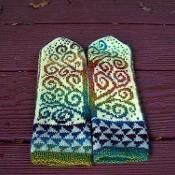 The Tree of Life Mittens - via @Craftsy