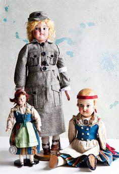 Martha dolls, costume doll. Lotta and a Bebe