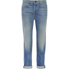 Alexander Wang Wang 003 boyfriend jeans ($345) ❤ liked on Polyvore featuring jeans, pants, bottoms, trousers, light blue, alexander wang, torn jeans, destructed boyfriend jeans, boyfriend jeans и ripped jeans