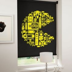 Awesome Pac-Man video game roller blinds are perfect for any boy's room.
