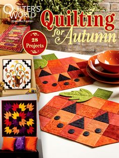 Get 28 gorgeous quilting patterns guaranteed to jump-start your creativity and produce quick, satisfying results! These autumn-themed quilting projects are divided into 3 chapters by size and purpose, so you can easily choose what is best for you! As always, quilting projects in all sizes and all skill levels are included. Order these beautiful patterns today!