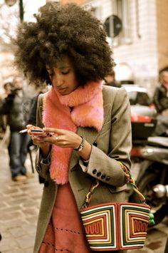 beautemodeste:  Julia..Milan     always reblog crazy bags…
