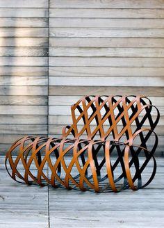 Relaxing #steel #armchair ARIA by @La Cividina  | #design Antonio Rodriguez