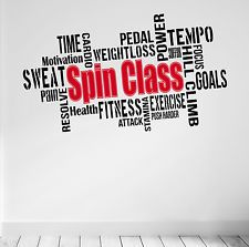 Spin Class Motivation | SPIN CLASS Motivational Wall Decal Gym Quote Workout Spinning Cycling ...