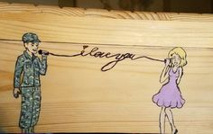 Military love, so worth the distance! I painted this on the container for holding my letters. Military Letters, Military Love, Military Art, Angry Girlfriend, Military Girlfriend, Usmc, Marines, Relationship Drawings, Military Relationships