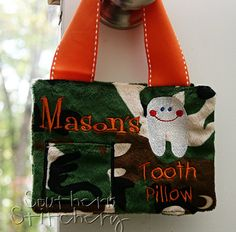 Tooth Fairy Pillow for Boys Personalized by SouthernStitchery, $20.00