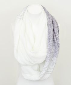 Take a look at this Leto Collection Gray & White Peppered Infinity Scarf on zulily today!
