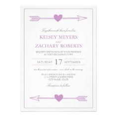 Lovely Arrows Wedding Invitation / Radiant Orchid #radiant #orchid #purple #plum #arrows #wedding #hearts #love #elegant #modern #arrow #radiant #orchid #wedding #invitations #orchid #wedding #radiant #orchid #wedding #arrows #wedding #invitations #orchid #arrows #wedding #modern #wedding #elegant #orchid #wedding