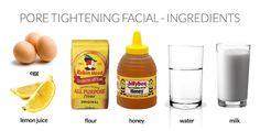 DIY Pore Minimizer Recipes ~ Fashion.MakeUp.LifeStyle: DIY Pore Tightening Facial
