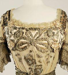 Evening dress Designer: Jeanne Hallée  Date: 1901–5 Culture: French Medium: silk, metallic, glass