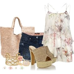 """""""softfloral"""" by kloeyblue on Polyvore"""