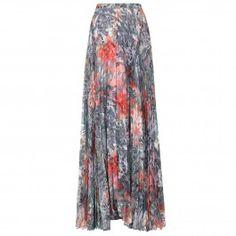 Shannon floral print chiffon maxi skirt