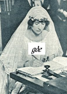 Princess Xenia Leeds at her wedding. She would invite Anna Anderson, the most famous Anastasia claimant, to her estate at Oyster Bay in an attempt to discover her authenticity. She concluded Anderson was her cousin Anastasia. This put her at odds with her namesake Grand Duchess Xenia (Tsar Nicholas II's sister) along with most of the Romanov family, with a couple of notable exceptions.