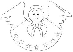 Paper Angel Template Coloring Page With Paper Angel Template Christmas Angel Crafts, Paper Christmas Ornaments, Frugal Christmas, Quilling Christmas, Christmas Stencils, Christmas Templates, Diy Christmas Cards, Xmas Crafts, Printable Crafts